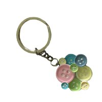 Wholesale Button Party Supplies - Cute Resin Button Shape Key Chain Keychain Baby Shower Favors And Gift Party Souvenir Wedding Favor Souvenir ZA1168