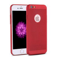Wholesale Cellphone Shockproof - For iPhone 6s 7 6s plus Phone Cases Breathing Net Shockproof PC Hard Ultra Thin Back Covers For iPhone X 8 6 6s 7 Plus Cellphone Cases