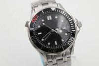 морские спортивные автоматические часы оптовых-Роскошные автоматические часы Sea Master Мужские часы с черным циферблатом и стальной лентой 007 Спортивные часы Montre Homme