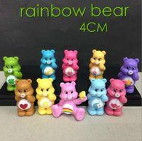 Wholesale Care Bear Wholesale - 10Pcs Lot Japanese Anime Kawaii Action Figure Care Bears Best Kids Toys For Boys And Girls