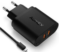Wholesale Apple Certified - Free Shipping Certified Aukey Quick Charge 2.0 18W USB Turbo Wall Charger Fast Charger For Nexus 6 Note 4 Xperia Z3 SAMSUNG S6 Edge