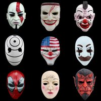 Wholesale Joker Resin Mask - High-grade Handcraft Scary Resin Mask Chains HarvestDay2 .Etc Game Demon Joker Masks Halloween Cosplay Masquerade Party Props Variety series