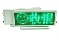 Wholesale Led Sign Board Car - Green LED scrolling message display board desk desktop panel car advertising  programmable   LED high brightness panel sign