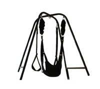 Wholesale Spinning Sex Swings - 2016 Metallic Frame Spinning Sex Swing Heavy Duty Indoor Sling Couples Love Game Set