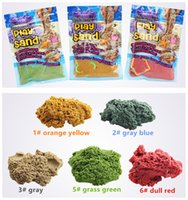Wholesale Mars Bags - DIY 100g bag with 1 Model Kinetic Color Clay Dynamic Sand Indoor Magic Play Sand Educational Children Mars Space Sand Toy Children Toys Gift