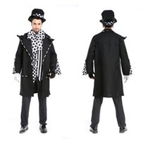 Halloween Party Mago Tuxedo Funny Circus Costumes Masquerade steward Cosplay Carnevale