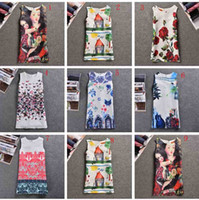 Wholesale Baby Designers Clothing Brand - 9Styles Baby Girl Dress Rose Floral Pattern A-Line Princess Dress Girls European Style Baby Dress Brand Designer Kids Clothes 100-140