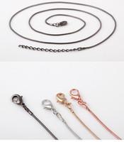 medallones de oro para damas al por mayor-Lady Fashion Jewelry Accessories 925 plata o oro serpiente lisa cadenas Collar cadenas de venta caliente para DIY colgante de vidrio medallones