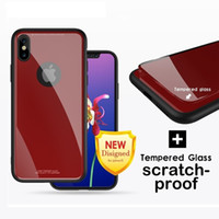 Wholesale Iphone Glossy Case - Temper Glass Case For iPhone X Luxury Glossy Glass phone case cover For iPhone 8 8P 7 7P 6 6P 6S Plus
