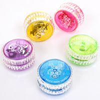 Wholesale plastic toy yoyo - YoYo Ball Luminous Toy New LED Flashing Child Clutch Mechanism Yo-Yo Toys for Kids Party Entertainment Bulk Sale