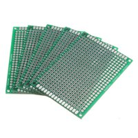 Wholesale Prototyping Pcb - Wholesale-IMC Hot 5Pcs Double Side 5x7cm Printed Circuit PCB Vero Prototyping Track Strip Board UK