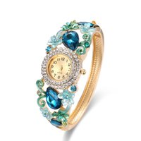 Sky Blue Vintage Diamond Watche Floral Desig Ladies Relógios 60 * 48mm Diameter Bangle Relógios Para Mulheres 61166056