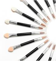 aplicadores de sombra de ojos al por mayor-Nuevos pinceles de maquillaje Esponja desechable Cosméticos Sombra de ojos Eyeliner Lip Brush Set Aplicador para mujeres Belleza