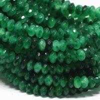 Wholesale Emerald Abacus - Wholesale-Vintage dark green emerald jasper 5x8mm Multicolor roundel jade Abacus loose beads diy Jewelry making 15 inch AA GE4148