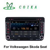 Wholesale Skoda Din Android - Touch Screen Quad Core Android 5.1 Car DVD Stereo For Volkswagen Jetta Golf Tiguan Skoda Fabia Octavia Polo Amark Sharan Seat Leon Altea EOS