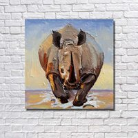 Wholesale Cheap Large Framed Art - Realistic animal picture no framed for living room wall decor by hand made wild animal large canvas art cheap