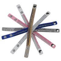 ingrosso braccialetto di rhinstone-Brand new 4layers 17cm rhinstone wrap bracciale in pelle di velluto gioielli per bambino gioielli