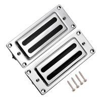 Wholesale guitar neck part for sale - Mini Humbucker Pickups Bridge Neck Set for Rickenbacker Guitar Parts Chrome