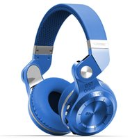 Wholesale Original Bluedio T2 Headphones Wireless Bluetooth Stereo Headset support SD card FM Radio Bass HIFI gift box Earphones for Calls Music