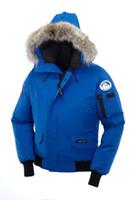 Wholesale Men Navy Parka - 2017 New Arrival sale men's Down parka Chilliwack Bomber Black Navy Gray Jacket Winter Coat Parka Fur Sale With Free Shipping Outlet