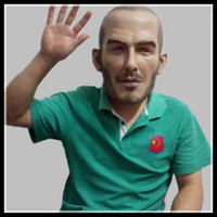 Wholesale Famous Halloween Masks - Wholesale 2017 Halloween Party Realistic Famous Person Mask Beckham Latex mask soccer celebrities overhead mask fancy celebrities cosplay