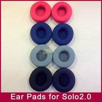 substituição da almofada do auscultador venda por atacado-Substituição Almofadas de Espuma Almofadas de Espuma Almofadas fronha para MP3 / 4 jogador Solo2 solo2.0 fone de ouvido fone de ouvido sem fio 6 cores