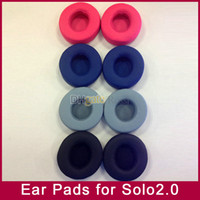 yastıklar için köpük dolgu toptan satış-Yedek Kulak Pedleri Köpük earpads Minderler yastık kapak MP3 / 4 oyuncu Solo2 solo2.0 kablosuz kulaklık kulaklık 6 renkler