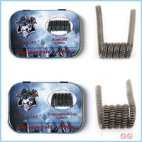 Wholesale Hot Vape Twist - Hot Demon Killer Wire Alien V2 coil Tsuka staple staggered fused spaced clapton Tri-twisted clapception Framed clapton coil DIY Vape Wire