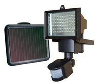 Wholesale Infrared Floodlight Security - Outdoor Solar Powered 60 LED PIR Wall Lamps 850LM Floodlight Infrared Ray Motion Sensor Security Garden Sensor Light
