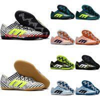 Wholesale Cheap Soft Ground Soccer Cleats - 2018 futsal shoes men soccer cleats Nemeziz Tango 17.3 IC TF soccer shoes indoor soft ground football boots cheap nemeziz 17 kids leather
