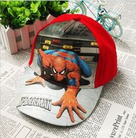 Wholesale Children Cartoon spiderman Hats New Boys Girls Fashion Ball Caps Kids Visor Hat Child Accessories Hats Colors
