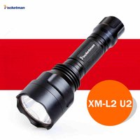 Wholesale cree led torch focus - 3800Lm CREE XM-L2 Flashlight focus adjustable outdoor camping 5 modes led flashlight torch light lamp by 18650