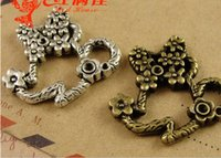 Wholesale China Silver Material Wholesale - A3987 25*26MM Antique bronze Mickey's head of retro DIY jewelry material, zinc alloy metal pendant vintage tibetan silver charms China
