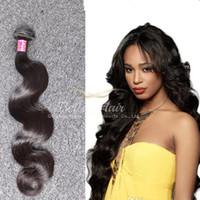 kaliteli brazilian saç uzantıları toptan satış-Bella Hair® Yüksek Kalite Boyanabilir Brezilyalı Saç Uzantıları 8A 1 paket Brezilyalı Vücut Dalga Saç Demetleri 1 adet Çift Atkı İnsan Saç Örgüleri