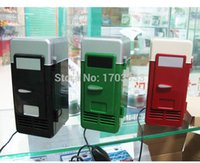 Wholesale Mini Beer Coolers - MINI Portable USB PC Fridge Car Refrigerator Heater Beer Juice Warmer Cooler with LED Indicator In Stock