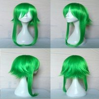 Wholesale Gumi Megpoid Cosplay - 55cm Anime VOCALOID GUMI Camellia Megpoid Anti Alice Cosplay Wig Green Heat Resistant Wig ePACKET Free Shipping