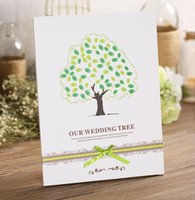 Wholesale Purple Wedding Guestbook - 2015 wedding supplies Marry a guestbook creative wedding wedding finger sign in tree signage attendance book