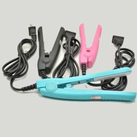 Wholesale New Curling Iron Straightener - Mini Hair Straightening Irons Practical Portable Ceramic hair straightener Curler Iron straight Curl perm DUAL use new hot 2016