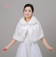 Wholesale Ivory Faux Fur Boleros Shrugs - Real Photo Wedding Wraps Cheap In Stock Ivory Faux Fur Women Formal Accessories Bridal Boleros   Shrugs   Shawls   Cape   Stole