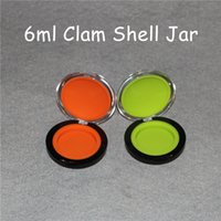 Wholesale Up Silicon - New arrival make-up silicone jar clam shape wax containers 6ml clam shell silicon container food grade wax jars dab silicone container
