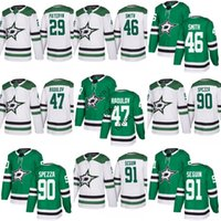 Wholesale Seasons Star - 2018 season Men's Dallas Stars 29 greg pateyn 46 Gemel Smith 47 Alexander Radulov 90 Jason Spezza 91 Tyler Seguin 25 Brett Ritchie Jersey