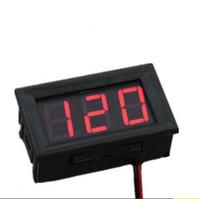 gleichstromdraht großhandel-Mini 0,56 Zoll DC5V - 120V Zwei Volt Digital Voltmeter rote LED Anzeige Volt Elektrische Instrumente Spannungsmesser