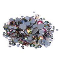 Wholesale Rhinestone Iron Rainbow - Rainbow Crystal Hotfix Rhinestones For Nails ss6-ss30 Glue Backing Iron On Glass Chatons DIY Wedding Dress Clothes Decorations