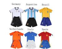 41f988168 Boy Winter Polyester Children football tracksuit Netherlands Italy soccer  jerseys survetement training kids Super clothes boys