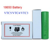 US VTC5 2600mAh VTC4 2100mAh 18650 3.7 V batería de iones de litio clon para cigarrillo E Manhattan King Nemesis Stingray Modificaciones mecánicas Fedex