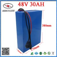 Wholesale e bike kit battery - E-Scooter Kit 48V 30AH Lithium Ion Battery Pack 13S6P 26650 with 50A BMS For Electric Bike 48V 1500W 2000W