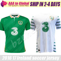 Wholesale Men White T Shirts - Benwon 16 17 Ireland soccer jersey Ireland away white shirt home Ireland green jerseys shirts top thai quality t shirts