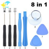 Wholesale Tool Kits For Cellphones - 8 in 1 Opening Pry Tools Screwdriver Repair Kit Set Screwdriver for samsung i pone smart cellphone with opp bag