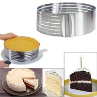 Wholesale Stainless Cutter For Cakes - for 7.8 inch Mousse Ring Stainless Steel Cake Mold Layer Slicer Kit Round Circle Cutter Retractable Cake Ring