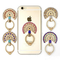 2017 Diamond Cartoon Peacock Open Ring Stents Metal Backing Ring Suporte para celular Suporte de telefone celular amor Metal 360 Degree Ring Holder